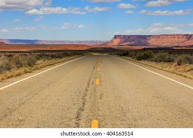 Desert highway in Indian Creek, Utah, USA.