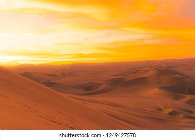 the desert of the huacachina