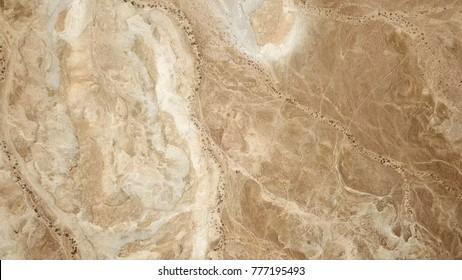 Desert landscape - Aerial top down aerial image