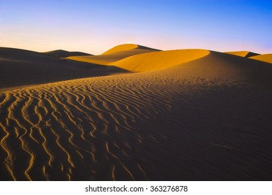 Desert landscape with blue sky