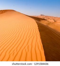Desert landscape, dunes, heat