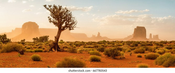 Desert Landscape in Monument Valley, Monument Valley Navajo Tribal Park. USA