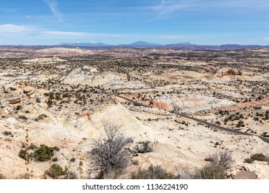 Desert Landscape Panorama on Scenic Byway 12 in Southwestern Utah, USA