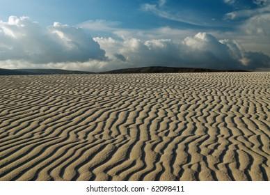 Desert landscape, sand ripples