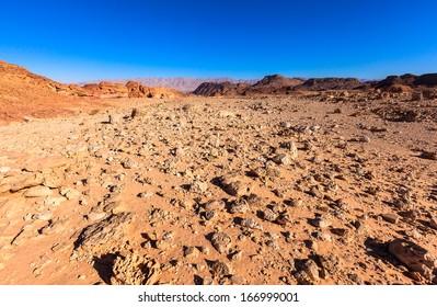 Desert landscape at Timna National Park in Israel