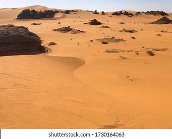 desert landscape in western sahara