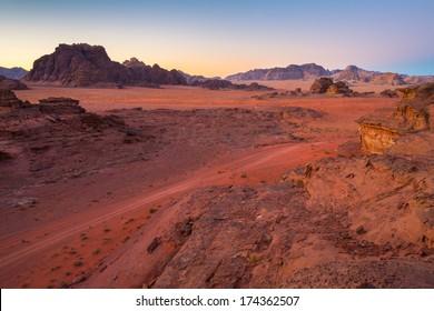 Desert in a morning