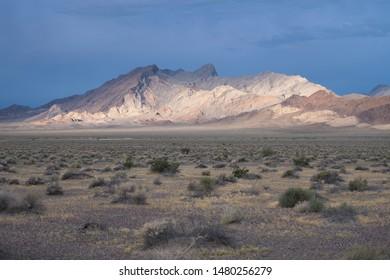 Desert morning light on the mountains around Death Valley, California
