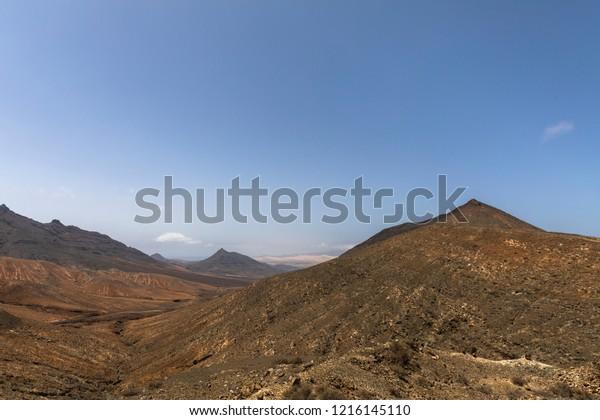 Desert mountain in Fuertventura