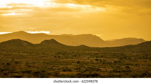 Desert and mountains of Eastern Ethiopia near Somalia