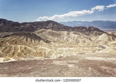 Desert mountains at Zabriskie Point, Death Valley, Nevada, United States.