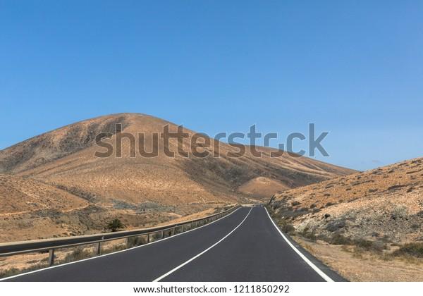Desert nature road