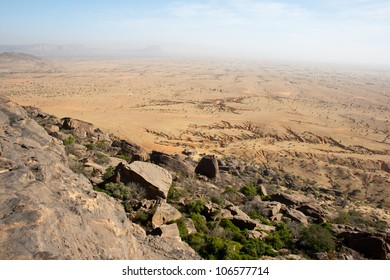 Desert near the Bandiagara Escarpment in the Dogon country, Mali, Africa.