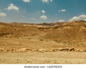 Desert of the Negev in Israel.