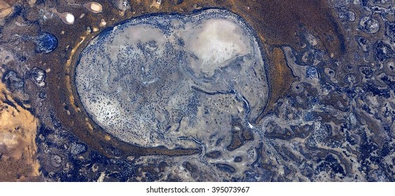 Desert ovule,abstract photography of the deserts of Australia from the air, bird's eye view, abstract expressionism, contemporary art, optical illusions,