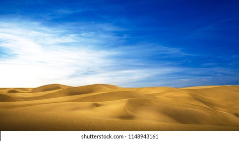 a Desert panorama of the dunes