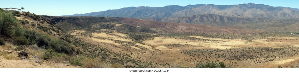 Desert Panorama from a Scenic Overlook in Arizona