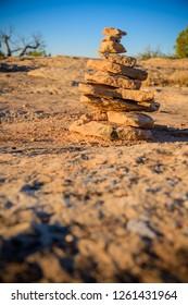 Desert pathway Cairn