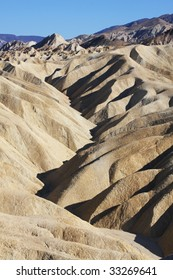 The desert ridges of Zabriskie point in Death Valley National Park, USA