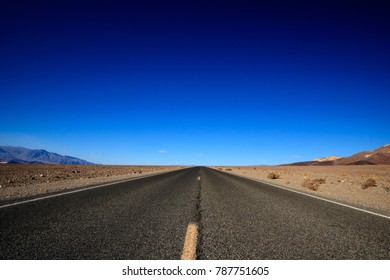 Desert Road and Blue Sky