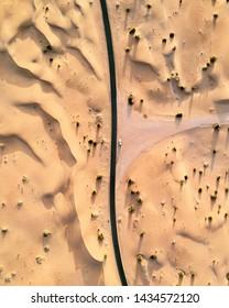 Desert road in Dubai, UAE