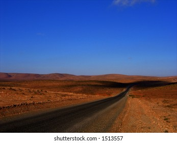 Desert road in Morocco