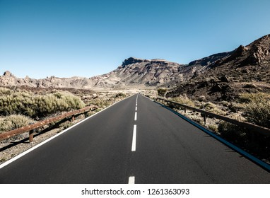 Desert road on Tenerife