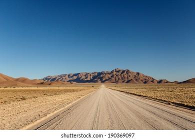 Desert Road at Sossusvlei in the Namib Desert, Namibia, Africa