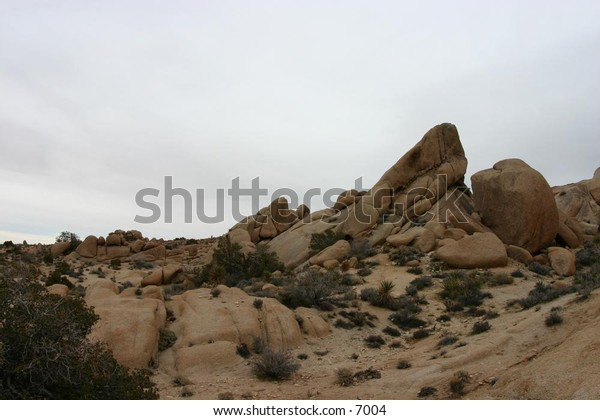 desert rocks thrusting out from the earth