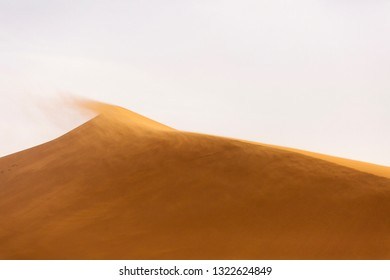 Desert Sahara with beautiful lines and colors at sunrise. Merzouga, Morocco