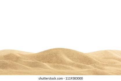 Desert sand isolated on white background