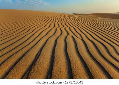 Desert Sand Pattern at Abqaiq Dammam Saudi Arabia.