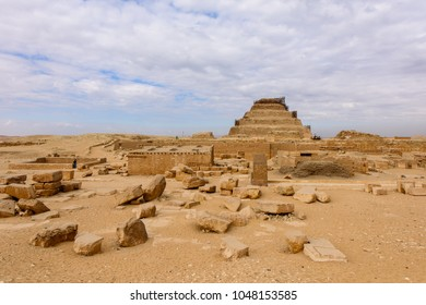 Desert and the Saqqara necropolis, Egypt. UNESCO World Heritage