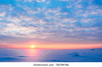 Desert Scene Northern Twilight