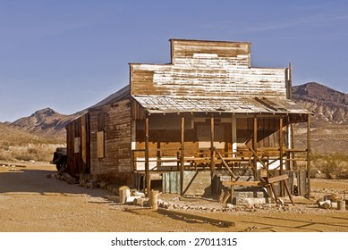 Desert shack at Rhyolite, Nevada, a ghost town