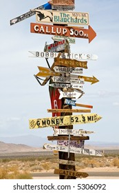 Desert Sign Post