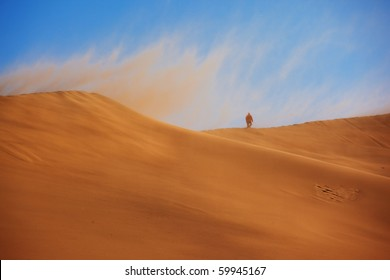 Desert Storm and the lonely traveler