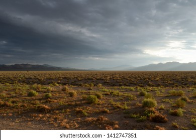 """Desert sunrise along Nevada Hwy 375, the Extraterrestrial Highway. This is just north of Groom Lake or """"Area 51."""""""