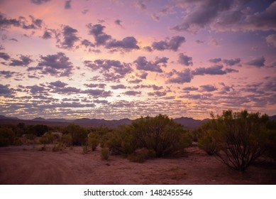 Desert Sunrise With Clouds In Arizona