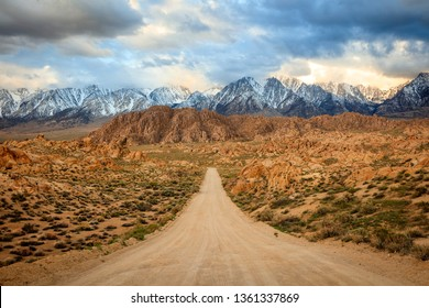 Desert sunset in Lone Pine, California, USA.