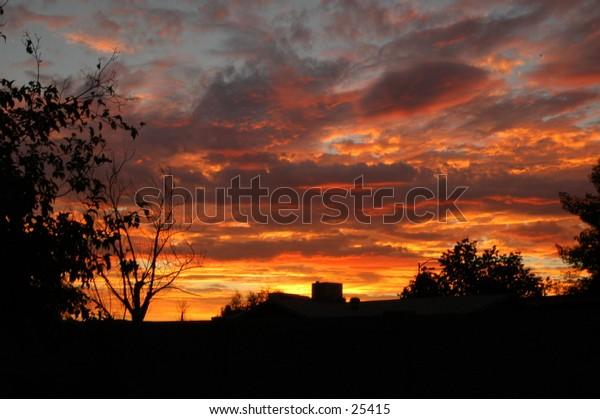 Desert sunset in Phoenix, Arizona