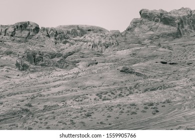A Desert View In Abstract