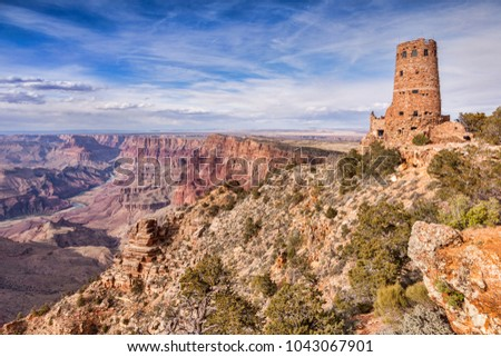 Desert View Watchtower Grand Canyon National Stock Photo Edit Now
