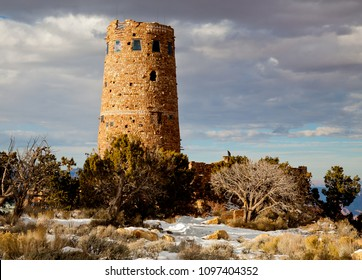 Desert View Watchtower, also known as the Indian Watchtower at Desert View, is a stone building located on the South Rim of the Grand Canyon, Arizona