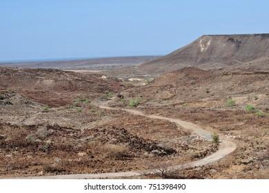 Desert winding road