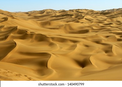 The desert in Xinjiang