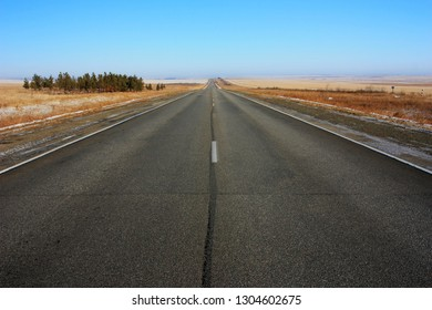 Deserted asphalt road