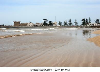 Deserted beach, Essaouira, Morocco, North Africa