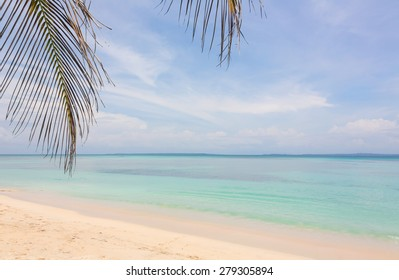 Deserted beach on the archipelago Bocas del Toro, Panama
