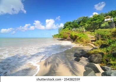 Deserted beach in Saint Lucia, Caribbean